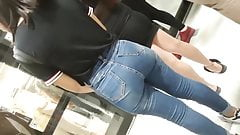 vagina Incredible teen with big and delicious ass in jeans! WOW butt