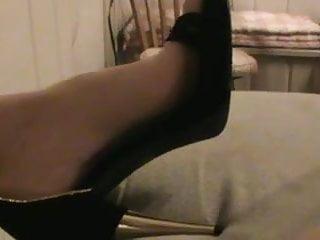 Milf stockins - Amateur showing her stilettos and stockin feet