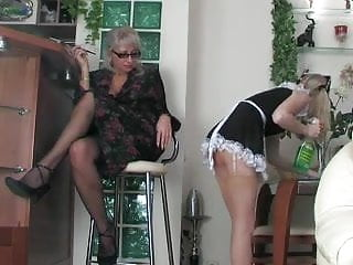 Strap-on milf Strap on milf and her maid