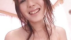 Japanese POV 2 girls on bed with lotion. s548