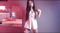 Anime girl dancing on camera, masturbation, big ass