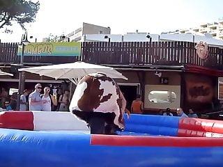 Amanda tapping nude nipple slip Nipple slip girl on bull