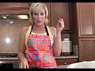 Mom fucking kitchen Sexy blonde mom fucked in kitchen