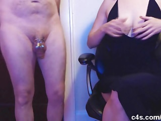 Doggie style gone wrong - Blue balls chastity experiment gone wrong