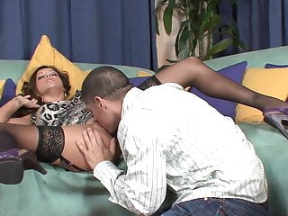 Cocks taste really good Latin milf in stockings fucks really good in reverse cowgirl