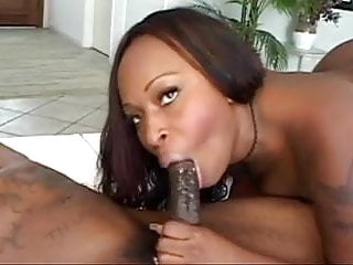 Cock ring does not maintain erection - Lusty ebony babe does smoke rings on big black cock
