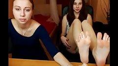 Amateur video: Sexy teen girls feet