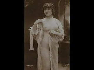 Black panties nude photo Vintage nude pinup photos c. 1900