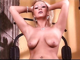 Ass pony round tails - Lusty blond with pig tails spreads her round ass