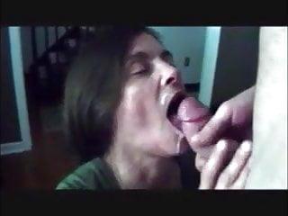 Mature wife get - Mature wife get cum in mouth