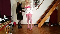 Goth domina abuse and fuck huge living barbi doll pt1 HD