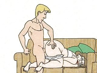 Gay cartoon boy galleries - Boy fucked granny in the dog-style and cums animation