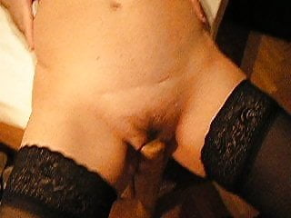 Husband post naked wife - My wife use a bed post as a dildo, and fuck it