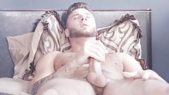 Gay Handjob by Muscular Lonely Gay Guy
