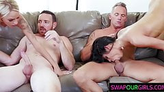 Eager Stepdads Drill Their Gal Stepdaughters