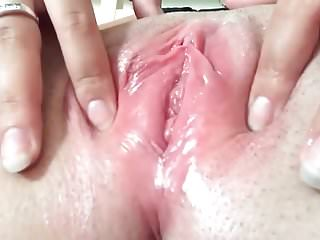 Natural shaved wet Close up shaved wet pussy