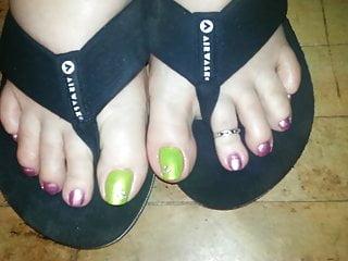 Celebrity porn video sharing Bbw toes flipflops