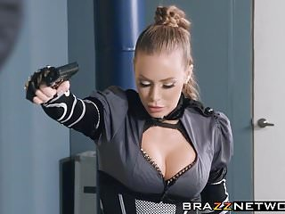 Larp latex swords Busty nicole aniston jumps and rides on thick long sword