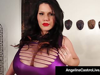 Latina lesbian cunts - Bbw latina angelina castro rubs cunt with 2 very big girls