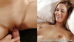 Big Tit Coed Fucked and Facialized