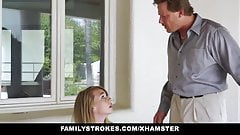 Cute Stepdaughter Punished By Her Stepdaddy and Mom