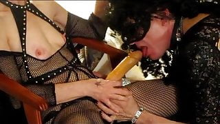 No Tell Motel sucking Mommy's rubber cock. A short clip.
