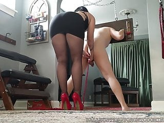 Bound in pantyhose videos Bastienne cross bound and ballbusted in heels and pantyhose