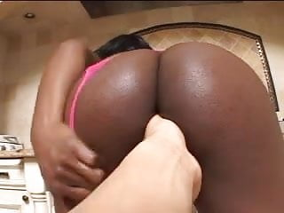 Muscle pumped cock - Black girl gets two white cocks pumping up her hot booty