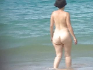 Pear ass expand corset hang gag Stunning pawg mature pear beach ass