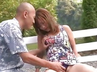 On her knees porn naked - Shy aika in the park naked on her knees giving a blowjob