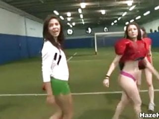 Some naked fun - Hot lesbian sexcapade after some naked football