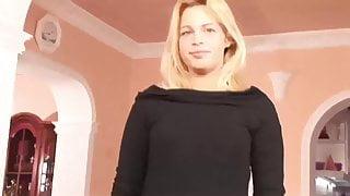 Casting von blondem Teen Engel