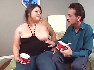 Ice orgy Chubby young asian loves ice-cream and cock