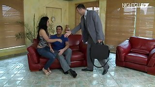 Crazy threesome for horny German wife
