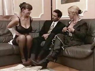 Mature stocking granny milf - Granny and milf in stockings fuck