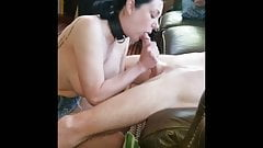 Submissive slut hotwife fucks new friend while husband films
