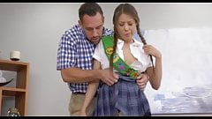 Step dad teaches daughter to sell cookies!