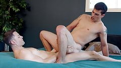 Shaved gay boys shagging the arsehole