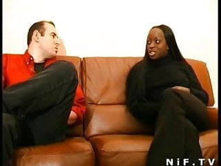 Cum covered as French black girl sodomized and cum covered