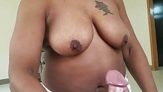 My friend showing off deepthroat skills on my cock (part 3)
