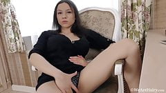 Veronika strips and plays after pictures