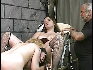 Bdsm girls videos - Cute thick lesbian bdsm girls with hairy bushes play with vibrators in basement