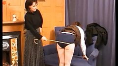 Caned on Navy Knickers
