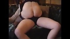Granny with glasses riding a young dick and cuck recording