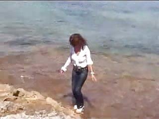 Marjorie cottreel nude pics Marjorie ist getting wet and muddy in the ocean - outdoor