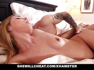My wifes killer tits - She willcheat- holding my wifes hair while she sucks another