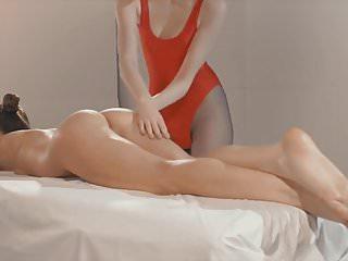 Lesbian esthetique massage video Beautiful lesbian massage and strap-on