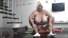 Blonde BBW-Milf fucked by young Guy