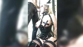 Bimbo slut on Pvc Fucked and begging for cum