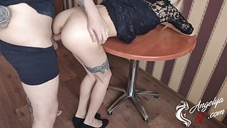 Schoolgirl Deepthroat and Passionate Fucking after Classes